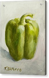 Green Bell Pepper Acrylic Print by Joni Dipirro