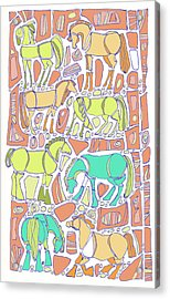 Green Broke Acrylic Print by Linda Kay Thomas