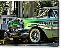 Green Buick Acrylic Print