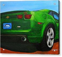 Green Camero Acrylic Print by Dean Glorso