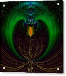 Green Candle Acrylic Print by Sfinga Sfinga