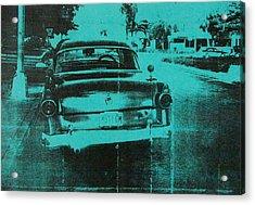 Green Car Acrylic Print by David Studwell