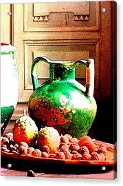 Green Ceramic Acrylic Print