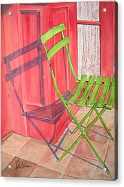 Green Chair Acrylic Print