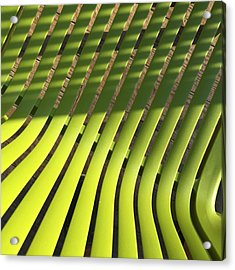 Green Chair Seen From Above Acrylic Print
