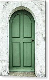 Green Church Door Iv Acrylic Print