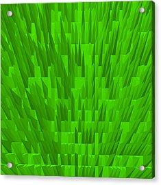 Green-city Acrylic Print by Ramon Labusch