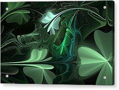 Green Clover Field Acrylic Print