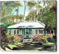 Green Cottage Acrylic Print