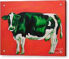 Green Cow Acrylic Print