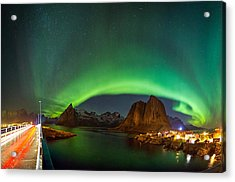 Green Curtains Acrylic Print