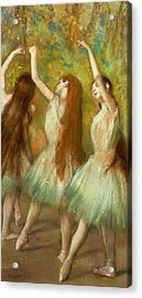 Green Dancers Acrylic Print