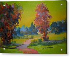 Green Day In Pasargada Acrylic Print by Leomariano artist BRASIL