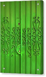 Acrylic Print featuring the photograph Green Door by Carlos Caetano