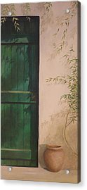 Green Door Acrylic Print