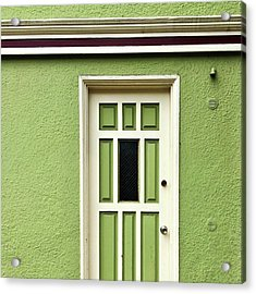 Green Door Detail Acrylic Print