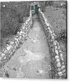 Green Door Acrylic Print by Elizabeth Reynders