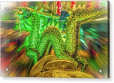 Green Dragon Acrylic Print