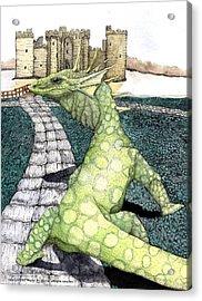 Green Dragon Acrylic Print by Preston Shupp