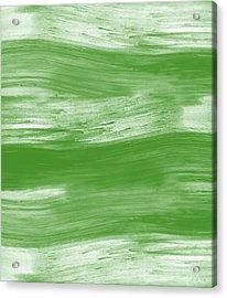Green Drift- Abstract Art By Linda Woods Acrylic Print
