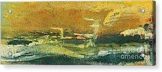 Green Edge Acrylic Print by Pat Saunders-White
