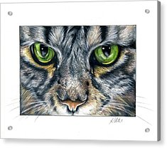 Green Eyes Acrylic Print