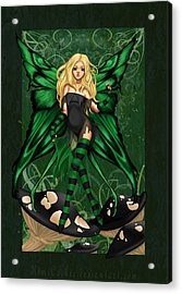 Green Fairy Of Poison Acrylic Print by KimiCookie Williams