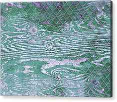 Green Fence Acrylic Print