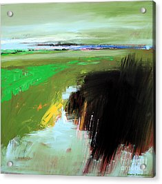 Green Field Acrylic Print by Mario Zampedroni