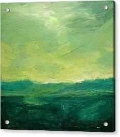 Green Fields Acrylic Print by Paul Mitchell
