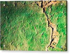 Green Flaking Brickwork Acrylic Print