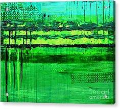 Green Flow Acrylic Print