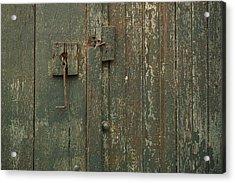 Green Garage Door Acrylic Print