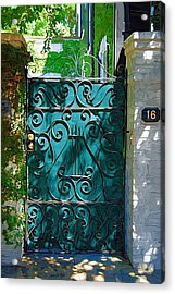 Green Gate Acrylic Print by Donna Bentley