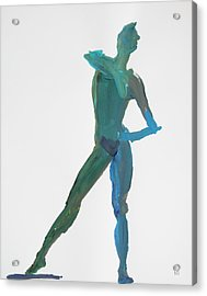 Green Gesture 2 Pointing Acrylic Print by Shungaboy X
