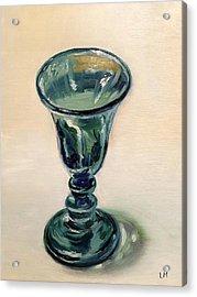 Green Glass Goblet Acrylic Print