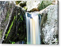 Green Glows On The Falls Acrylic Print