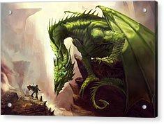 Green God Dragon Acrylic Print by Anthony Christou