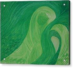 Green Harmony Acrylic Print by Prakash Bal Joshi