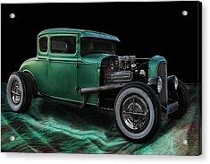 Green Hot Rod Acrylic Print by Joachim G Pinkawa