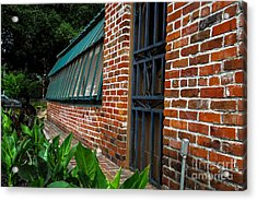 Green House Brick Wall Acrylic Print