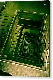 Green Infinity Acrylic Print