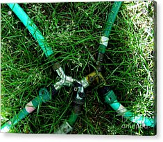 Green Intercourse Acrylic Print by The Stone Age