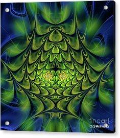 Acrylic Print featuring the digital art Green Island by Jutta Maria Pusl