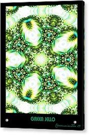 Acrylic Print featuring the digital art Green Jello by Charmaine Zoe