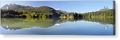 Green Lake Whistler Panorama Acrylic Print by Pierre Leclerc Photography