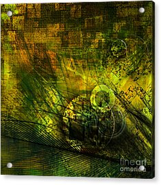 Green Lantern Acrylic Print by Monroe Snook