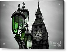 Green Light For Big Ben Acrylic Print by Donald Davis