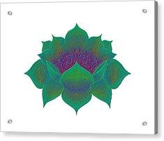 Acrylic Print featuring the digital art Green Lotus by Elizabeth Lock