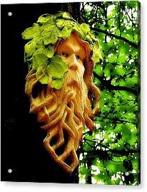 Green Man Acrylic Print by Jen White